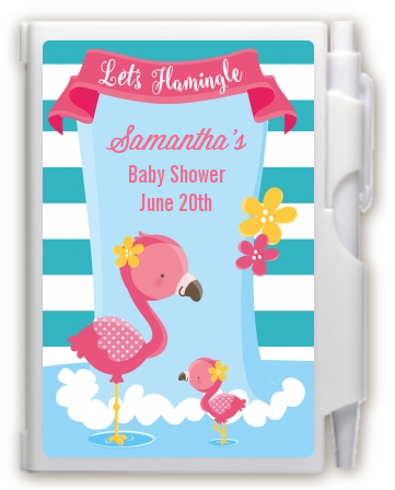Flamingo - Baby Shower Personalized Notebook Favor Baby Shower