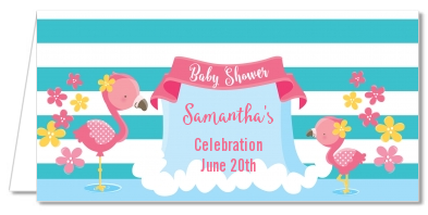 Flamingo - Personalized Baby Shower Place Cards Baby Shower