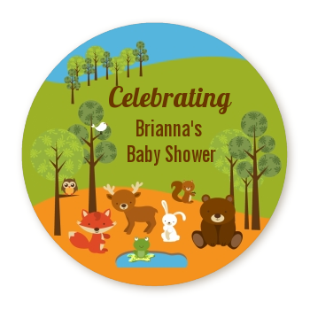Forest Animals - Personalized Baby Shower Table Confetti