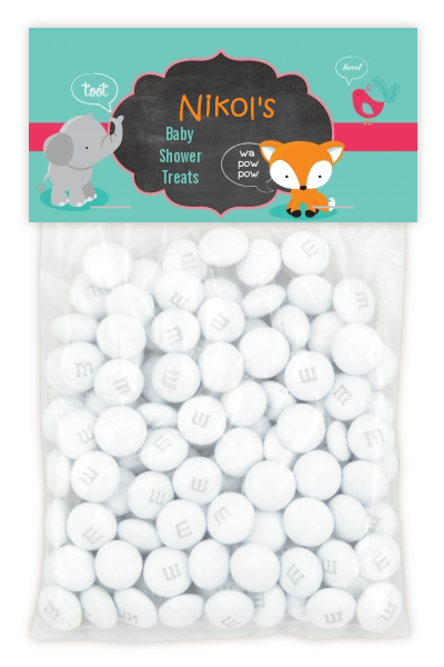 Fox and Friends - Custom Baby Shower Treat Bag Topper