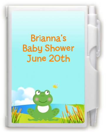 Froggy - Baby Shower Personalized Notebook Favor