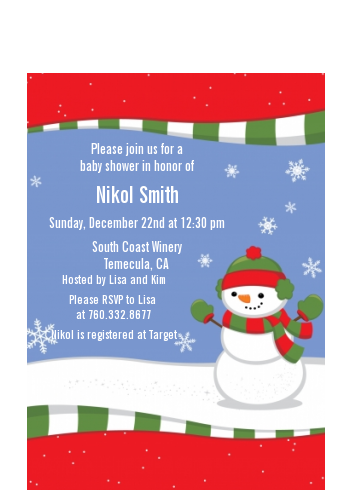 Frosty the Snowman - Christmas Petite Invitations