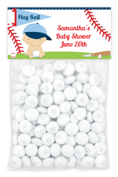 Future Baseball Player - Custom Baby Shower Treat Bag Topper Caucasian