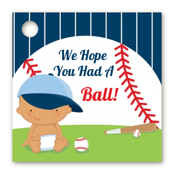 Future Baseball Player - Personalized Baby Shower Card Stock Favor Tags Caucasian