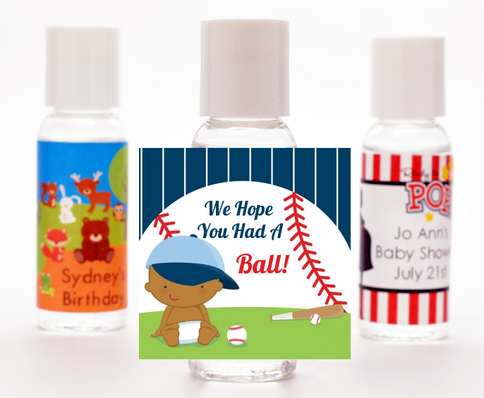 Future Baseball Player - Personalized Baby Shower Hand Sanitizers Favors Caucasian