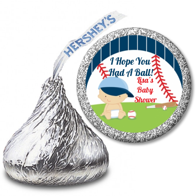 Future Baseball Player Hershey Kiss Stickers Candles Favors