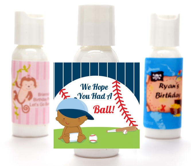 Future Baseball Player - Personalized Baby Shower Lotion Favors Caucasian