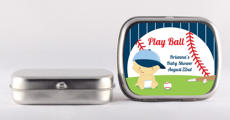 Future Baseball Player - Personalized Baby Shower Mint Tins Caucasian