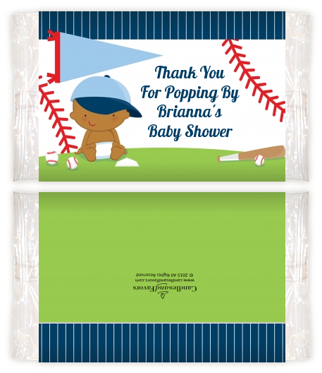 Future Baseball Player - Personalized Popcorn Wrapper Baby Shower Favors Caucasian