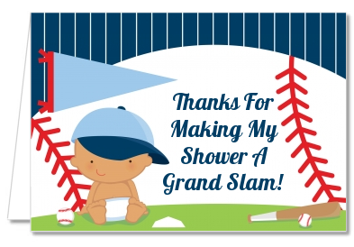 Future Baseball Player - Baby Shower Thank You Cards Caucasian