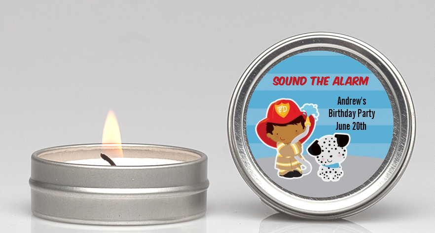 Future Firefighter - Birthday Party Candle Favors Caucasian Boy