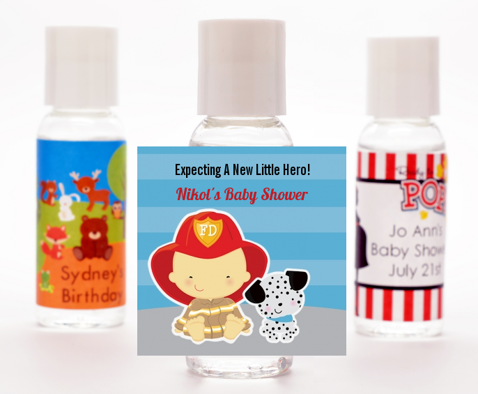 Future Firefighter - Personalized Baby Shower Hand Sanitizers Favors Caucasian
