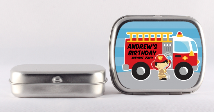 Future Firefighter - Personalized Birthday Party Mint Tins Caucasian Boy