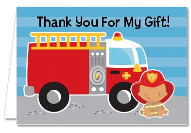 Future Firefighter - Baby Shower Thank You Cards Caucasian