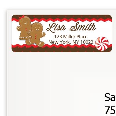 Christmas Return Address Labels.Gingerbread Christmas Return Address Labels
