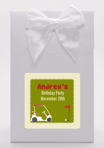 Golf Cart - Birthday Party Goodie Bags