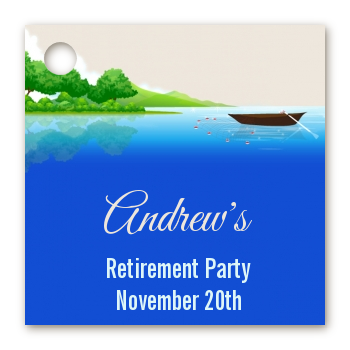 Gone Fishing - Personalized Retirement Party Card Stock Favor Tags