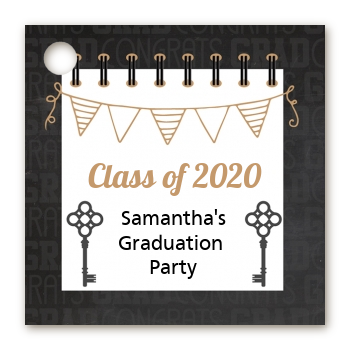 Grad Keys to Success - Personalized Graduation Party Card Stock Favor Tags