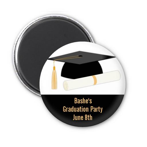 graduation cap personalized graduation party magnet favors