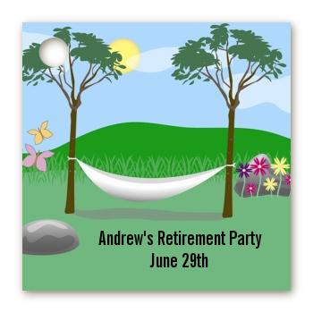Hammock - Personalized Retirement Party Card Stock Favor Tags