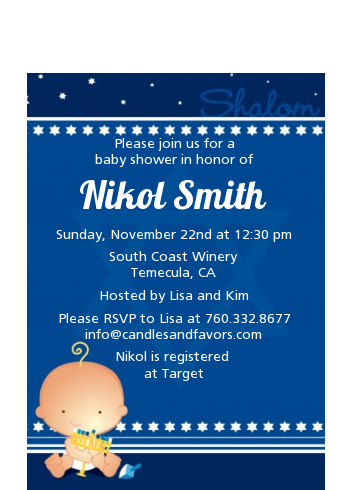 Hanukkah Baby - Baby Shower Petite Invitations