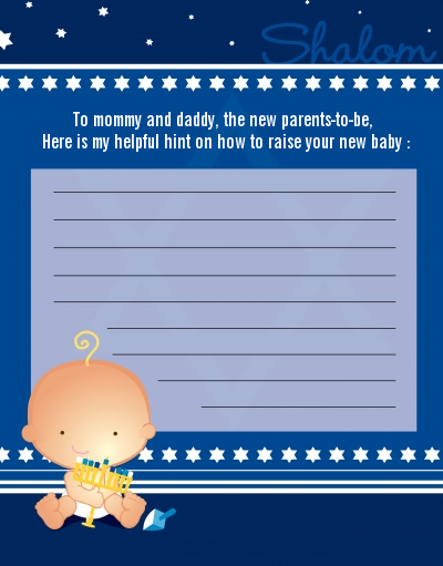 Hanukkah Baby - Baby Shower Notes of Advice