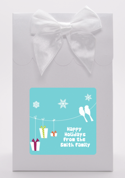 Happy Holidays on a String - Christmas Goodie Bags
