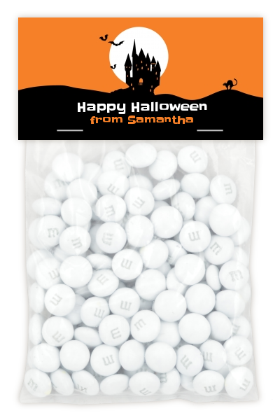 Haunted House - Custom Halloween Treat Bag Topper