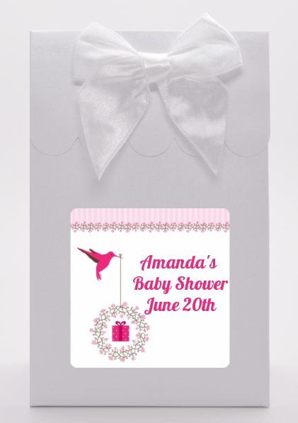 Hummingbird Baby Shower Goodie Bags Candles Favors