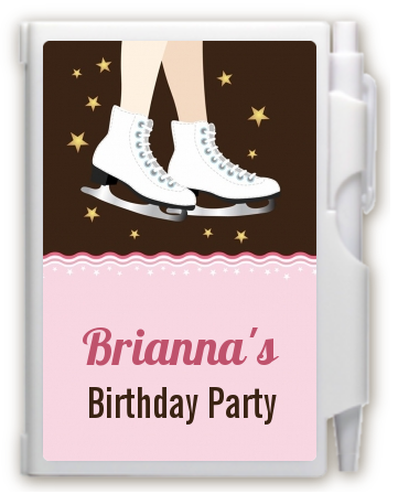 Ice Skating - Birthday Party Personalized Notebook Favor