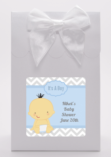 It's A Boy Chevron Asian - Baby Shower Goodie Bags