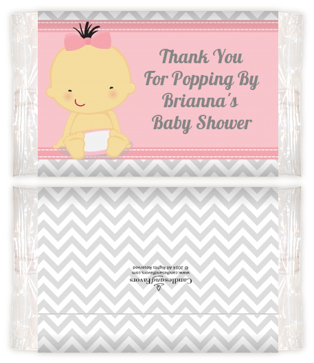 Its A Girl Chevron Asian Baby Shower Popcorn Wrappers Baby Shower