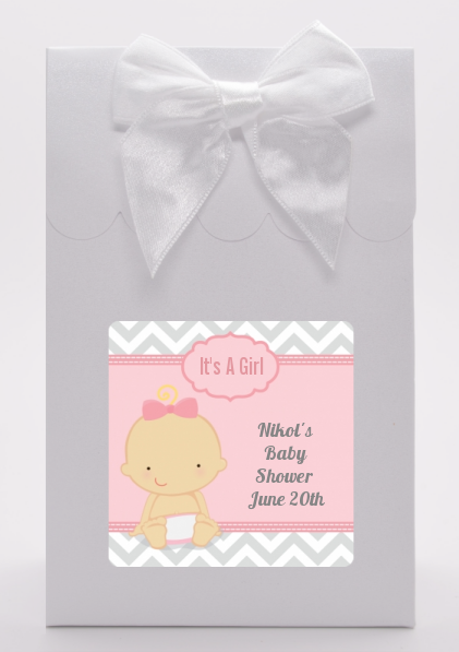 It's A Girl Chevron - Baby Shower Goodie Bags