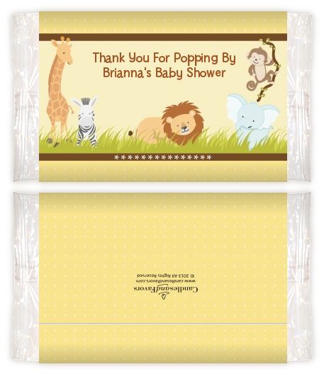 Jungle Safari Party Baby Shower Popcorn Wrappers Baby Shower