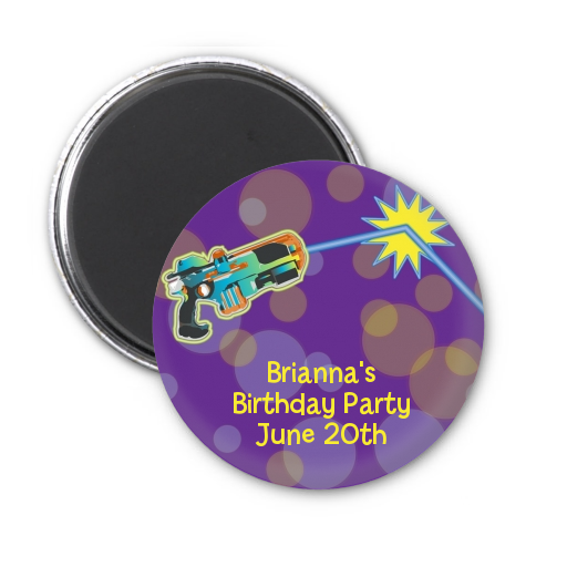 Laser Tag - Personalized Birthday Party Magnet Favors One Gun