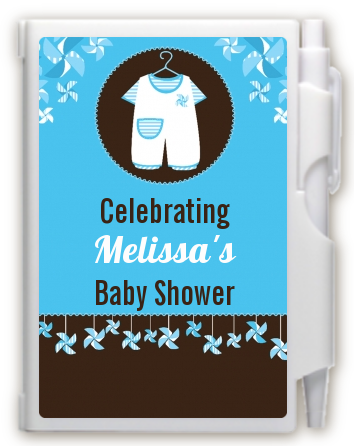 Little Boy Outfit - Baby Shower Personalized Notebook Favor
