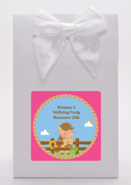 Little Cowgirl Horse - Birthday Party Goodie Bags