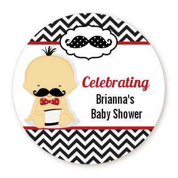 Little Man Mustache Black/Grey - Personalized Baby Shower Table Confetti Caucasian