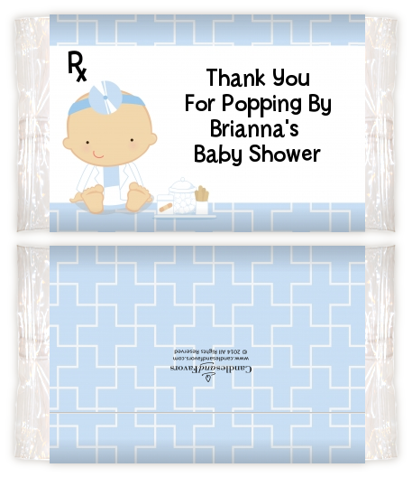Little Doctor On The Way Baby Shower Popcorn Wrappers Baby Shower