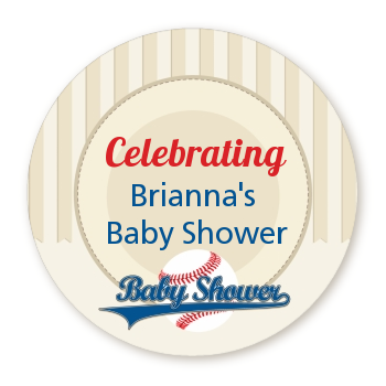 Little Slugger Baseball - Personalized Baby Shower Table Confetti