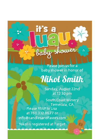 Luau Baby Shower Petite Invitations