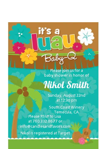 Luau - Baby Shower Petite Invitations baby shower