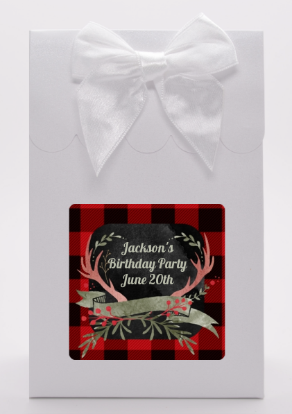 Lumberjack Buffalo Plaid - Birthday Party Goodie Bags