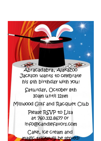 Magic - Birthday Party Petite Invitations
