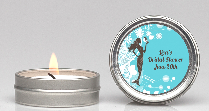 mermaid bridal shower candle favors