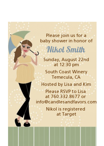 Mod Mom - Baby Shower Petite Invitations