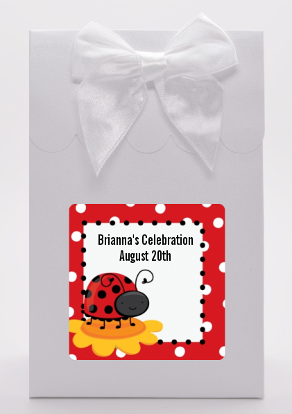 Modern Ladybug Red - Birthday Party Goodie Bags