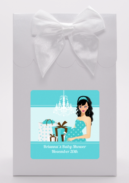 Modern Mommy Crib It's A Boy - Baby Shower Goodie Bags Black Hair A