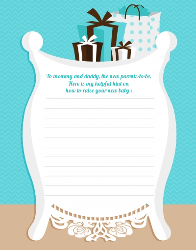 Modern Mommy Crib It's A Boy - Baby Shower Notes of Advice