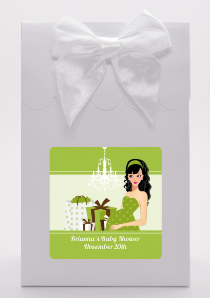 Modern Mommy Crib Neutral - Baby Shower Goodie Bags Black Hair A
